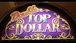 *HIGH LIMIT* Double TOP DOLLAR •LIVE PLAY• Slot Machine Pokie at Harrahs, Las Vegas