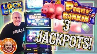 3 JACKPOT$! •High Limit Piggy Bankin WINS! •Slot Fest West   The Big Jackpot