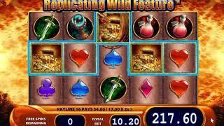 Dragons Inferno slot - 328 win!