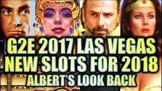 •NEW SLOTS FOR 2018!!• G2E 2017 LOOK-BACK W. NEW WALKING DEAD 3 Slot Machine (DEMO)