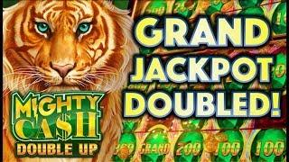 •OMG! GRAND JACKPOT DOUBLED!• NEIGHBOR'S WIN (NOT MINE) MIGHTY CASH DOUBLE UP Slot Machine Bonus