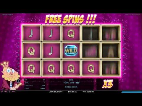 NetEnt King Of Slots Video Slot £5 Free Spins