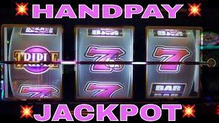 •Handpay JACKPOT• Triple Golden Cherries Slot Machine • HANDPAY JACKPOT•    Slot MASSIVE WIN
