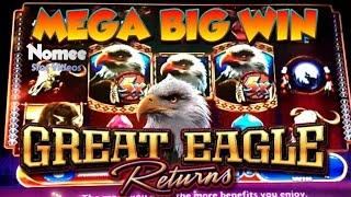•MEGA BIG WIN!!• GREAT EAGLE RETURNS Slot Machine - SLOTS of WINS!! • Episode Eight