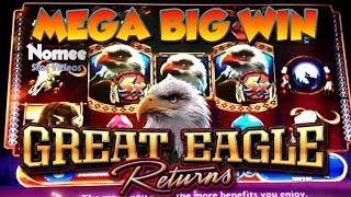•MEGA BIG WIN!!• GREAT EAGLE RETURNS Slot Machine - SLOTS of WINS!! • Episode Eight