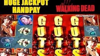 HUGE MEGA JACKPOT HANDPAY! - The Walking Dead - MEGA HUGE Slot Machine Bonus