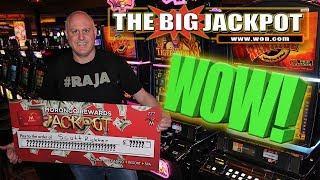 WOW! RAJA RECEIVES A BIG CHECK FOR A BIG HANDPAY! •TIGER WOMAN WIN!