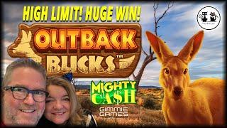 ★ Slots ★ HIGH LIMIT! HUGE WIN! MIGHTY CASH OUTBACK BUCKS ★ Slots ★