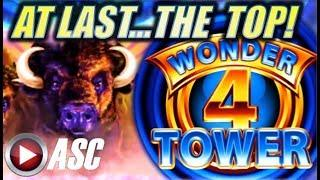 •TOP OF THE TOWER! SUPER FREE GAMES! BIG WIN!• BUFFALO | WONDER 4 TOWER Slot Machine Bonus