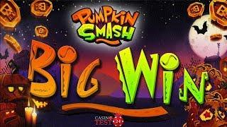 BIG WIN on the new Pumpkin Smash Slot from Yggdrasil - 4€ BET!