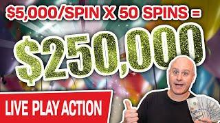 ⋆ Slots ⋆ BIGGEST HIGH-LIMIT SLOT PLAY on YOUTUBE ⋆ Slots ⋆ $250,000 at $5,000/Spin LIVE at Cosmo!