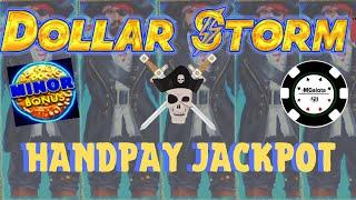 •️DOLLAR STORM CARIBBEAN GOLD •️HANDPAY & NICE SESSION ON NEW STYLE OF LIGHTNING LINK SLOT •️