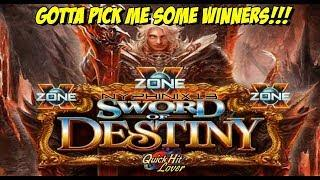 •X Zone• Sword of Destiny Slot Bonus & Progressive Wins!