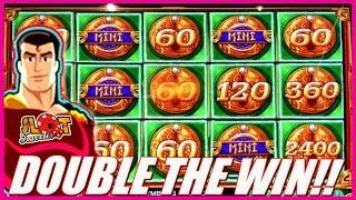 • DOUBLE THE JACKPOT! • FULL SCREEN MIGHTY CASH WIN! | Super Slot Traveler