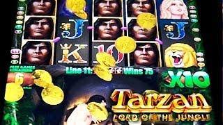 Aristocrat - Tarzan Lord of the Jungle - BIG WIN! - Slot Machine Bonus