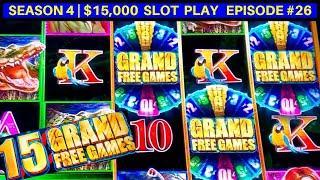 Tarzan Grand Slot Machine Max Bet Bonuses - GREAT Session   Season 4   Episode #26