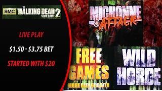 Aristocrat - AMC The Walking Dead 2 : Live Play $1.50 - Max Bet