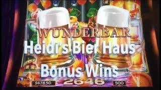 Heidi's Bier Haus Slot Machine  - Bonus Wins on max bet