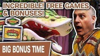 ★ Slots ★ INCREDIBLE! 28 Free Games + 3 Bonus Rounds ★ Slots ★ Little Shop of Horrors SLOTS