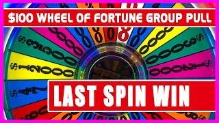 •$100/SPIN Wheel of Fortune 60 PERSON GROUP PULL • Brian Christopher Slots •RUDIES Weekend 2018