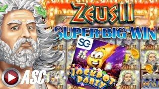•JACKPOT PARTY CASINO FRIDAY!• ZEUS II (SG/WMS) •SLOT GAME REVIEW•