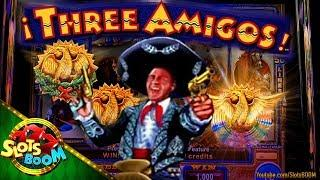 Three Amigos Max BET BONUS !!! & Wonder 4 Gold Bonus !!! Ainsworth & Aristocrat Slots in Casino