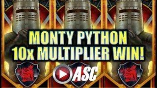 •BIG WIN RUN!• DOUBLED, TRIPLED, OR MORE? MONTY PYTHON & THE HOLY GRAIL Slot Machine Bonus [REPOST]