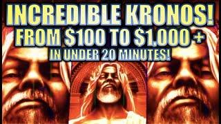 •HUGE BIG WIN! FROM $100 TO $1000+ UNDER 20 MIN!• KRONOS UNLEASHED $6.00 MAX BET Slot Machine REPOST