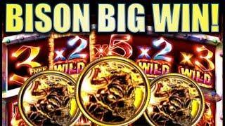 •BISON BIG WIN!!• BISON RUMBLE RUMBLE $5 MAX BET! Slot Machine Bonus (Ainsworth)