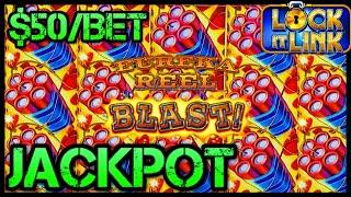 ★ Slots ★HIGH LIMIT Lock It Link Eureka Reel Blast JACKPOT HANDPAY ★ Slots ★$50 BONUS ROUND Slot Mac