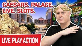 ★ Slots ★ CAESARS. PALACE. LIVE. SLOTS. ★ Slots ★ Spending INSANE Coin on The LAS VEGAS STRIP