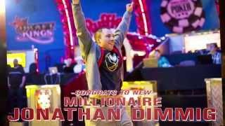 Congrats to Jonathan Dimmig, Poker's newest Millionaire.
