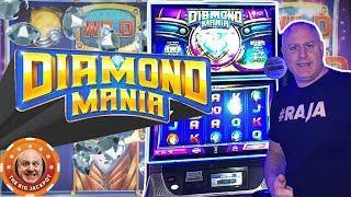 •PREMIERE SLOT! •Max Bet Diamond Mania Slot Machine •