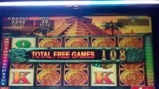 Mayan Chief Slot Machine Bonus - 188 FREE SPINS - Big Win (#2)