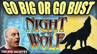 NEVER BEFORE SEEN! •Go BIG or Go BUST! • Night of the Wolf Slots | The Big Jackpot