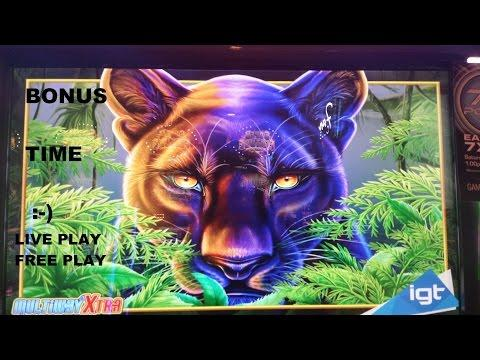 *LIVE PLAY on FREE PLAY* IGT Prowling Panther | Bonus Win