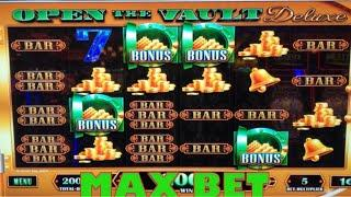 Max Bet Open the Vault Deluxe * Nice Wins * NEW Lock it Link and Ultimate Fire Link!!