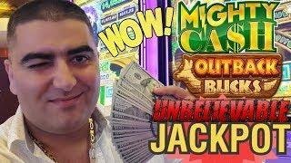 ⋆ Slots ⋆BIG HANDPAY JACKPOT⋆ Slots ⋆ On High Limit MIGHTY CASH Outback Bucks   Endless Treasure Slo