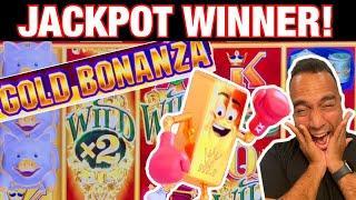 ⋆ Slots ⋆ Gold Bonanza JACKPOT WINNER ⋆ Slots ⋆!! Huff N Puff & Sweet Tweet Drop Lock!