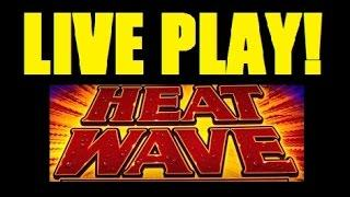 ★ LIVE PLAY on HEAT WAVE Slot Machine Bonus! LOTS of FREE SPIN ACTION! (DProxima)