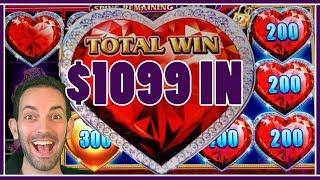 •Feeling the HIGH LIMIT • with $1099 IN •!!• Slot Machine Pokies w Brian Christopher