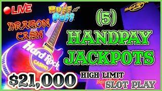 ⋆ Slots ⋆ $21K LIVESTREAM - 5 HANDPAY JACKPOTS - HIGH LIMIT SLOT PLAY FROM SEMINOLE HARD ROCK TAMPA