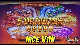 5 DRAGONS GRAND Slot Bonus NICE WIN!!