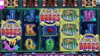 ROLL THE BONES Video Slot Casino Game with a FREE SPIN BONUS