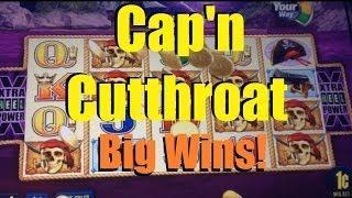 BIG WINS! Captain Cutthroat Slot Machine Bonus! ~ Aristocrat (Captain Cutthroat)