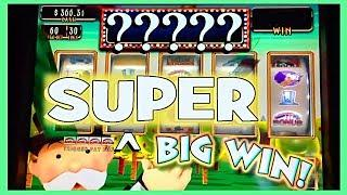 SUPER BIG WIN AT THE LAST MINUTE!!  MONOPOLY, KONAMI & RUBY SLIPPERS WINS TOO!! Slot Machine Pokies