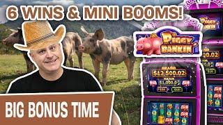 ⋆ Slots ⋆ Raja Lands 6 WINS & MINI BOOMS! ⋆ Slots ⋆ 30 MINUTES of Piggy Bankin' High-Limit SLOTS