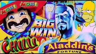 • EXCELLENT FULL SCREEN WIN! • MORE MORE CHILLI slot ALADDIN'S FORTUNE slot BIG WINS and More!