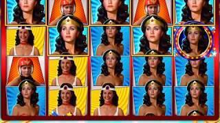 WONDER WOMAN Video Slot Casino Game with an AMAZING AMAZON FREE SPIN BONUS