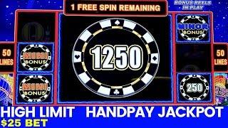 High limit LIGHTING LINK Slot Machine $25 Bet HANDPAY JACKPOT | Lightning Link High Stakes HANDPAY